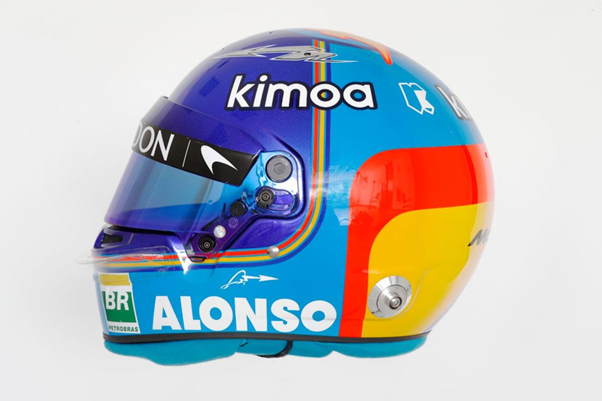 フェルナンド・アロンソ 2018年 F1ヘルメット