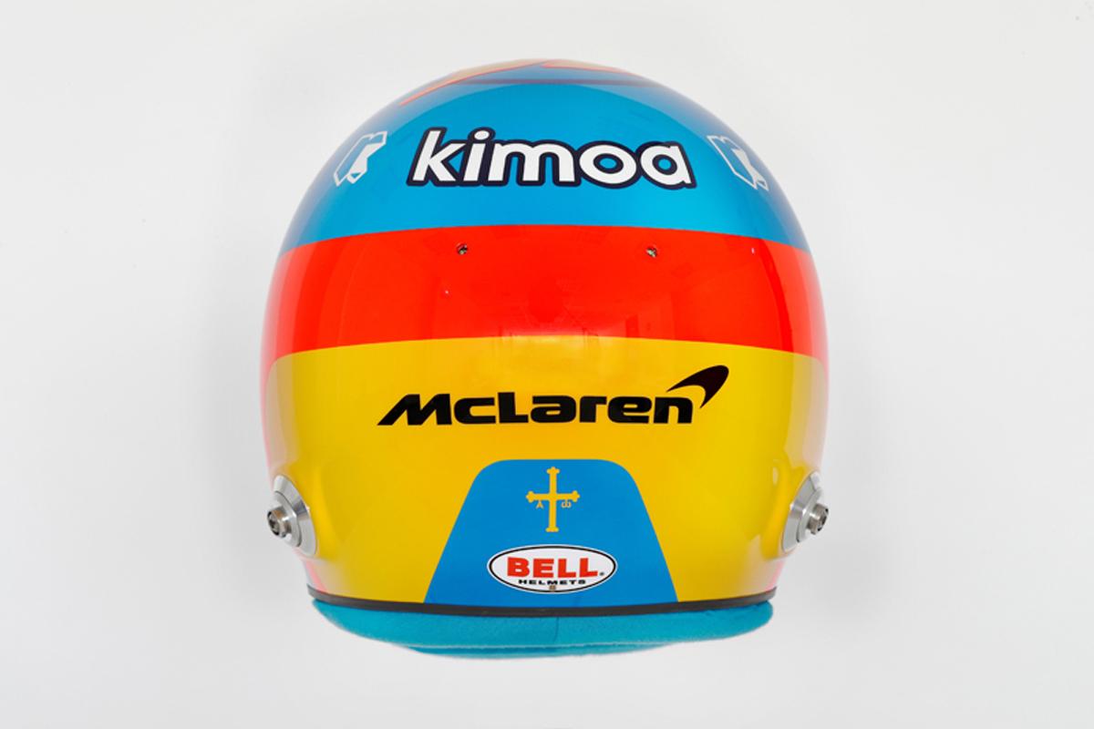 フェルナンド・アロンソ 2018年 F1ヘルメット(背面)