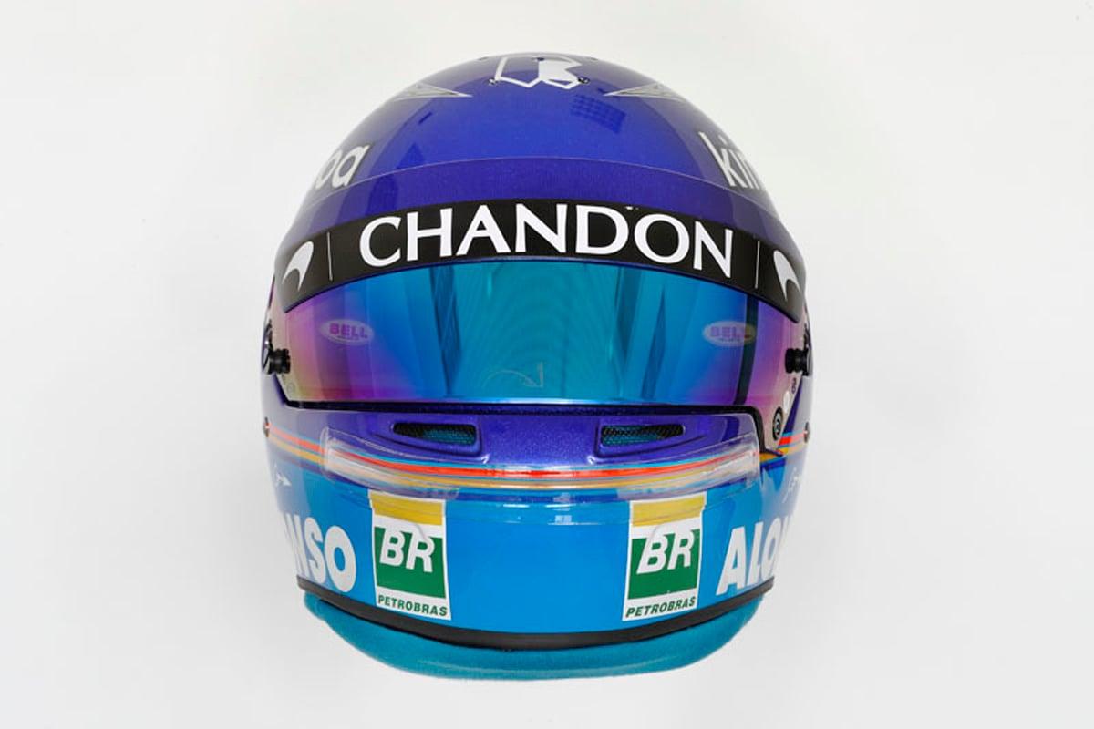 フェルナンド・アロンソ 2018年 F1ヘルメット(前面)