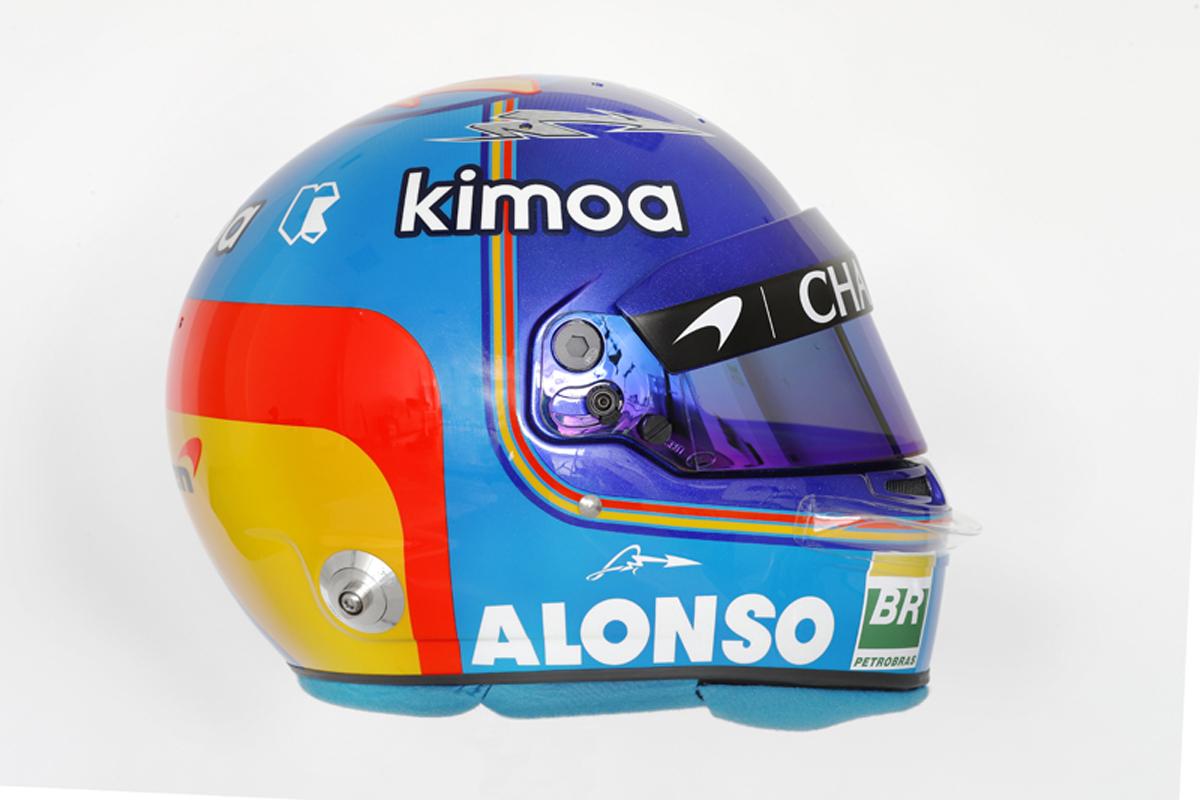 フェルナンド・アロンソ 2018年 F1ヘルメット(側面)