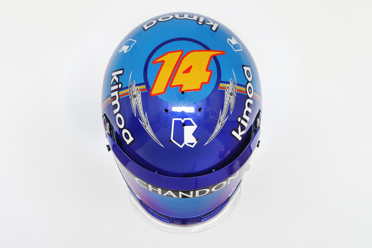 フェルナンド・アロンソ 2018年 F1ヘルメット(上面)