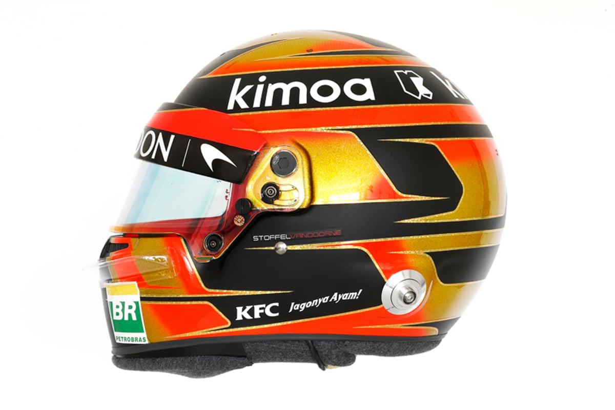 ストフェル・バンドーン 2018年 F1ヘルメット