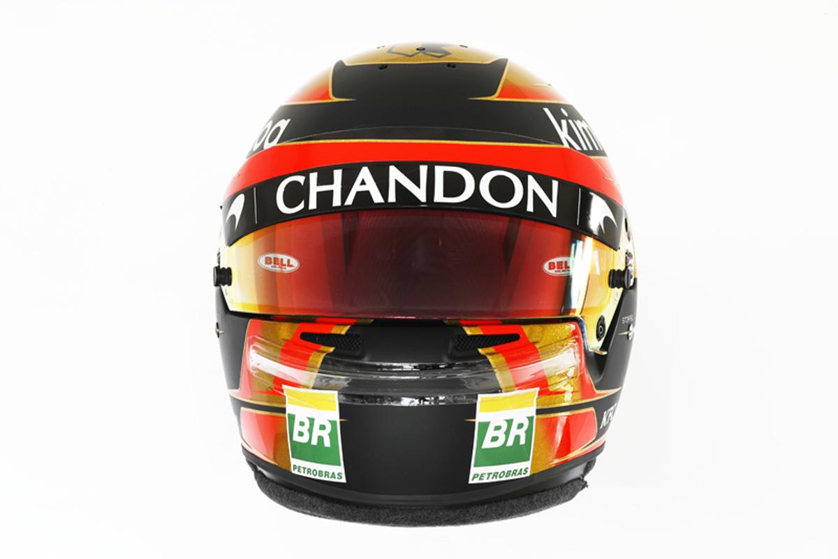 ストフェル・バンドーン 2018年 F1ヘルメット (前面)