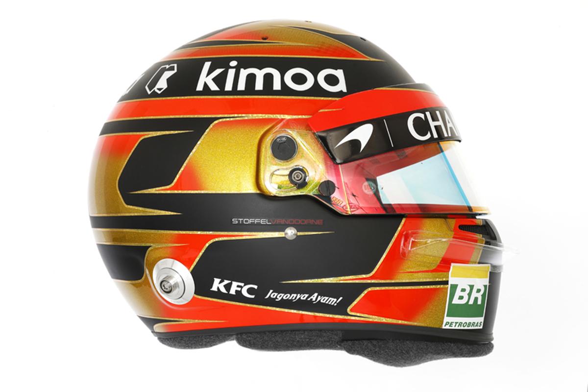 ストフェル・バンドーン 2018年 F1ヘルメット (側面)