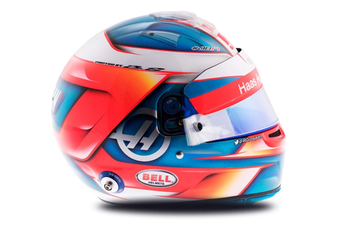 ロマン・グロージャン 2018年 F1ヘルメット 写真