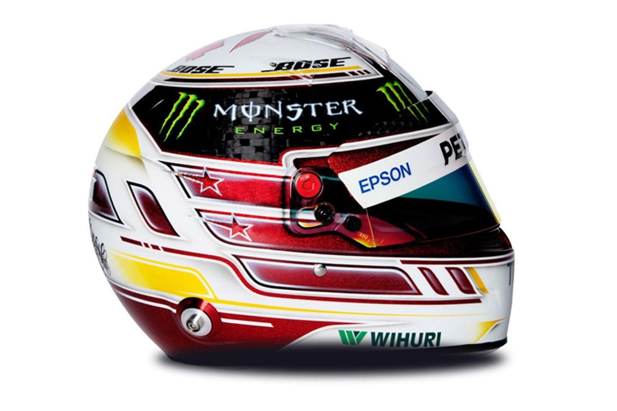 ルイス・ハミルトン 2018年 F1ヘルメット 写真