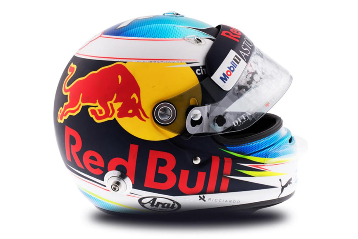 ダニエル・リカルド 2018年 F1ヘルメット 写真