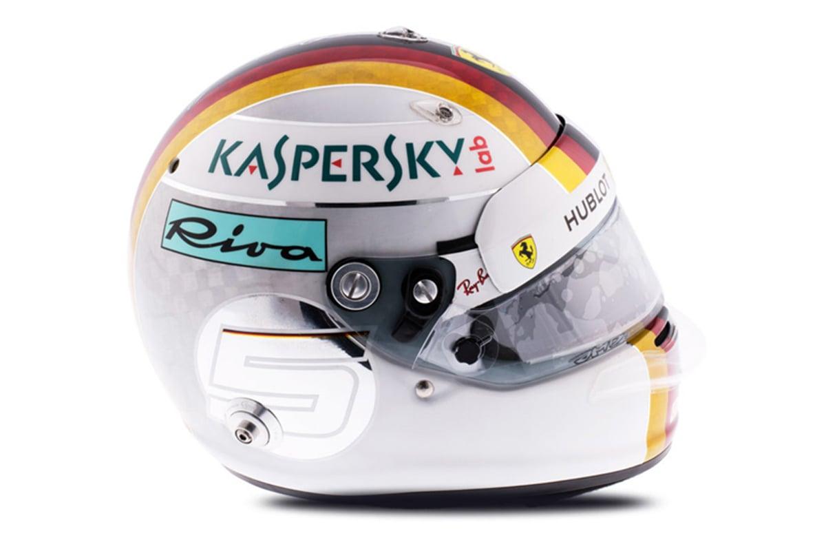 セバスチャン・ベッテル 2018年 F1ヘルメット 写真