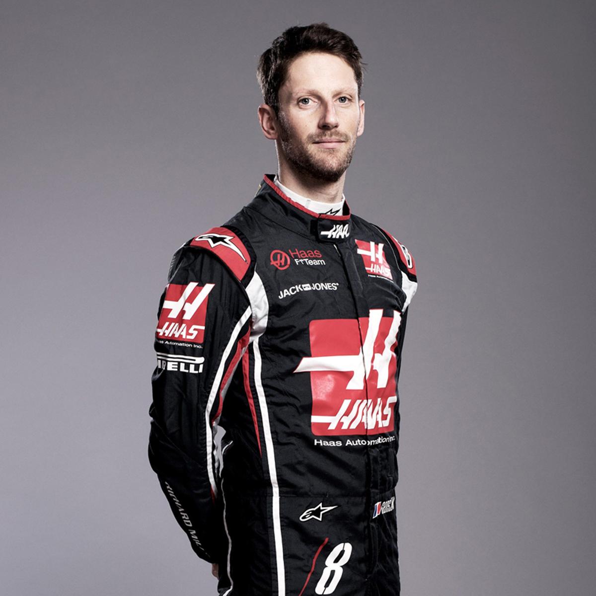 ロマン・グロージャン(ハース):2018年 F1レーシングスーツ