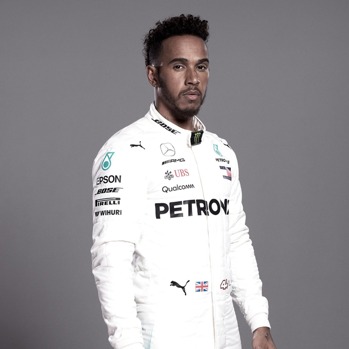 ルイス・ハミルトン(メルセデス):2018年 F1レーシングスーツ