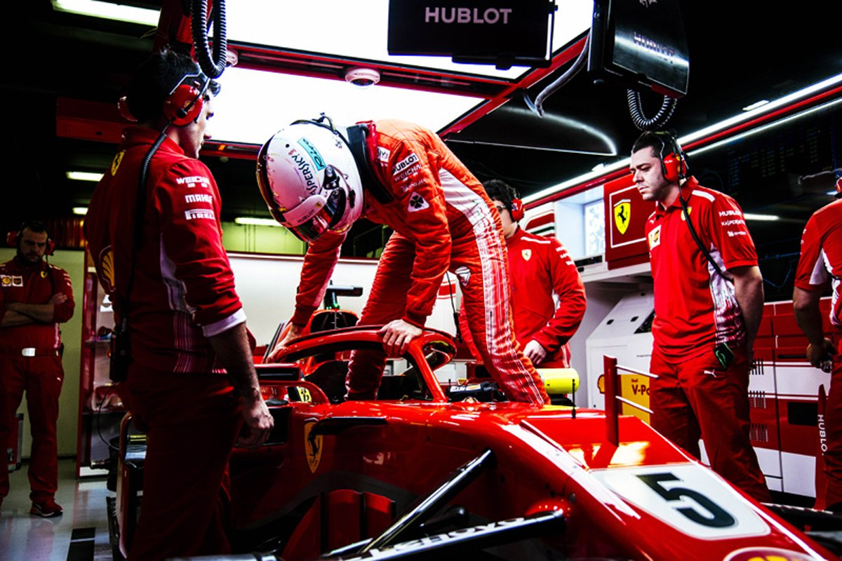 F1 セバスチャン・ベッテル フェラーリ 2018年のF1世界選手権