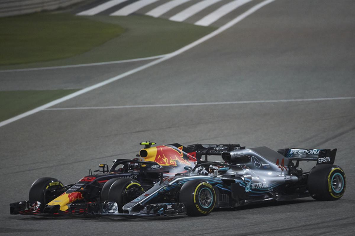 F1 ルイス・ハミルトン マックス・フェルスタッペン バーレーングランプリ