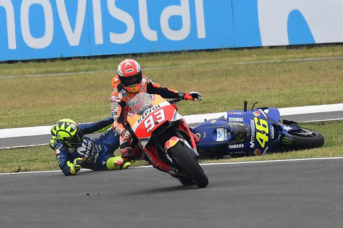 MotoGP M. マルケス V. ロッシ アルゼンチングランプリ
