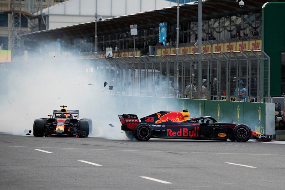 F1 レッドブル・レーシング アゼルバイジャンGP ダニエル・リカルド マックス・フェルスタッペン