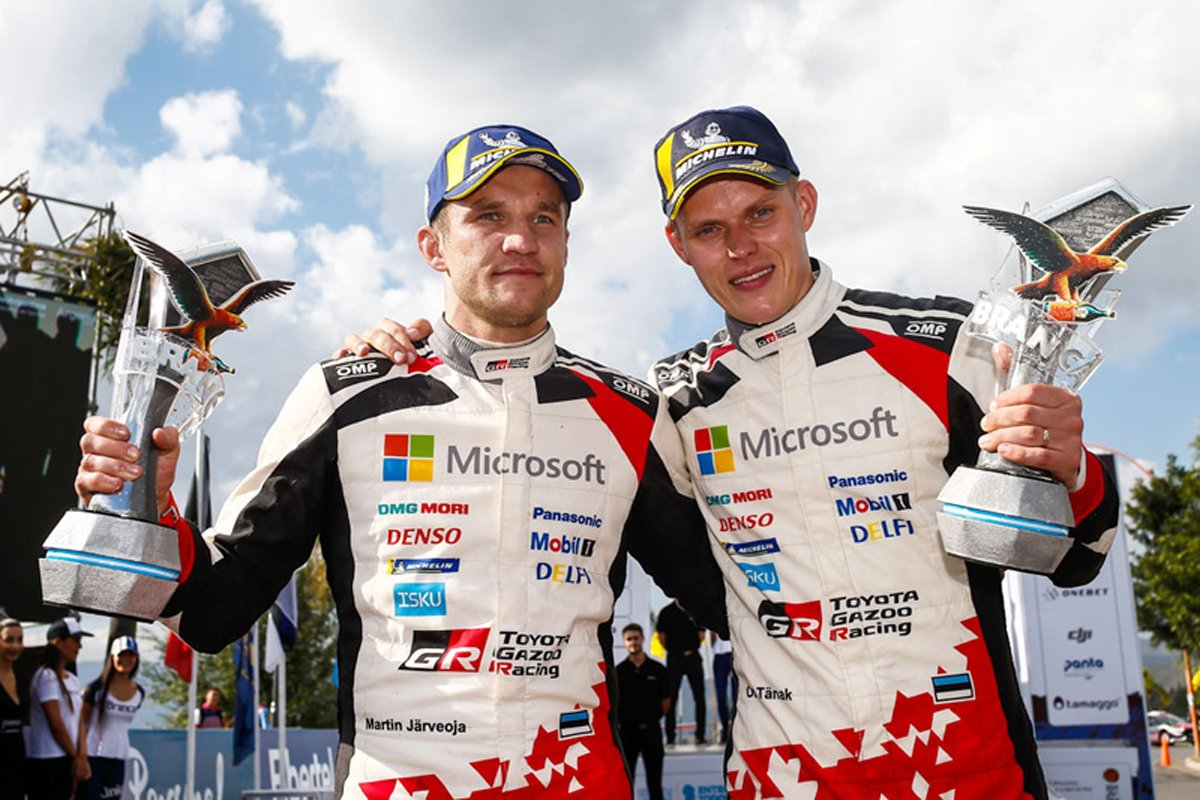 WRC 世界ラリー選手権 オット・タナク トヨタ自動車 トヨタ・ヤリスWRC
