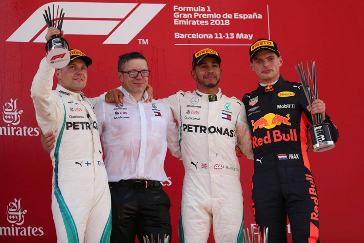 F1 スペイングランプリ L. ハミルトン V.ボッタス メルセデスAMG F1