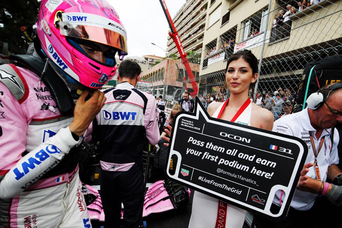 F1 メルセデスAMG F1 エステバン・オコン フォース・インディア