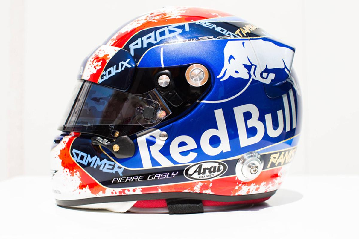 ピエール・ガスリー 2018年 F1フランスGP ヘルメット⑤