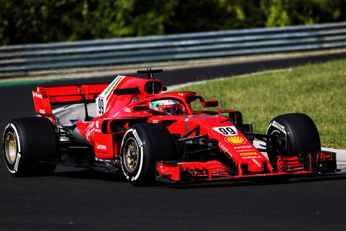 F1 ハンガリーテスト