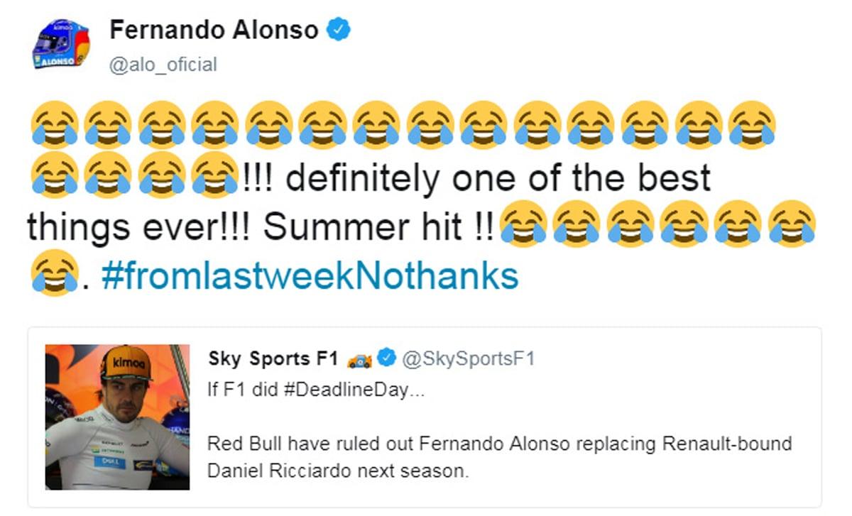 Fernando Alonso Twitter