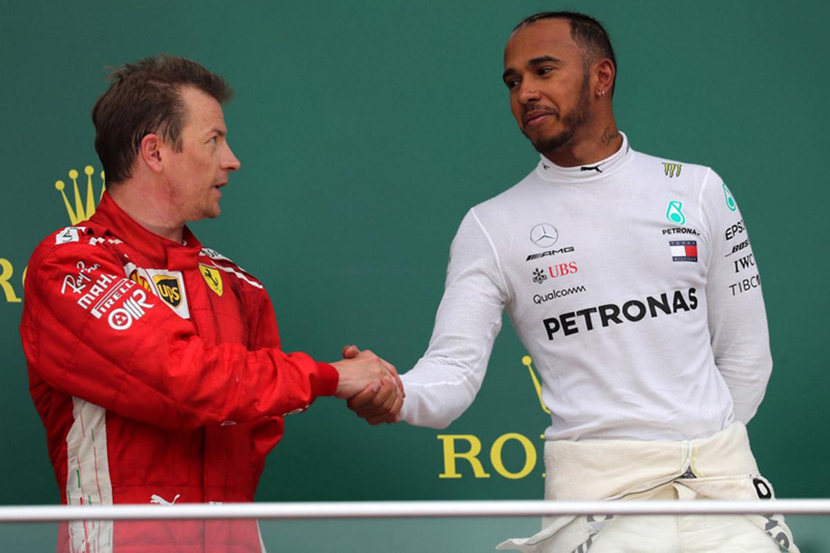 F1 キミ・ライコネン ルイス・ハミルトン