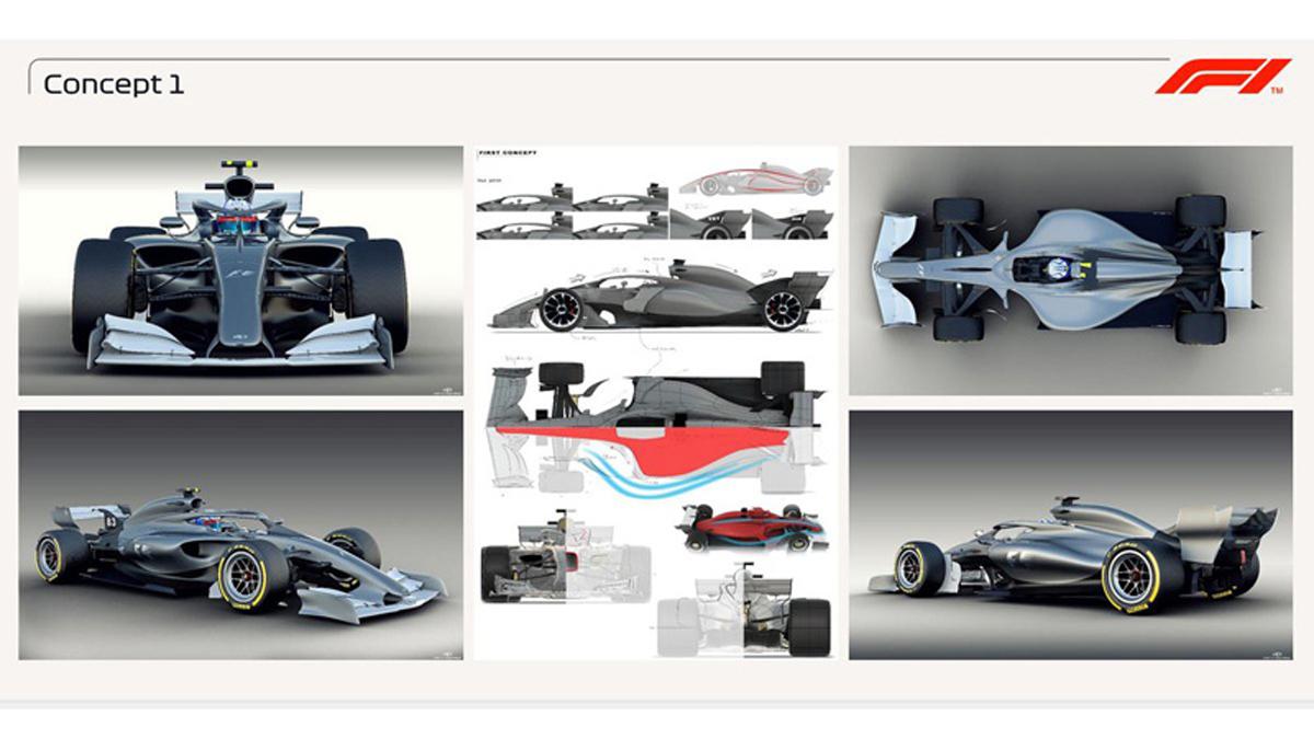 2021年 F1マシン コンセプトデザイン①