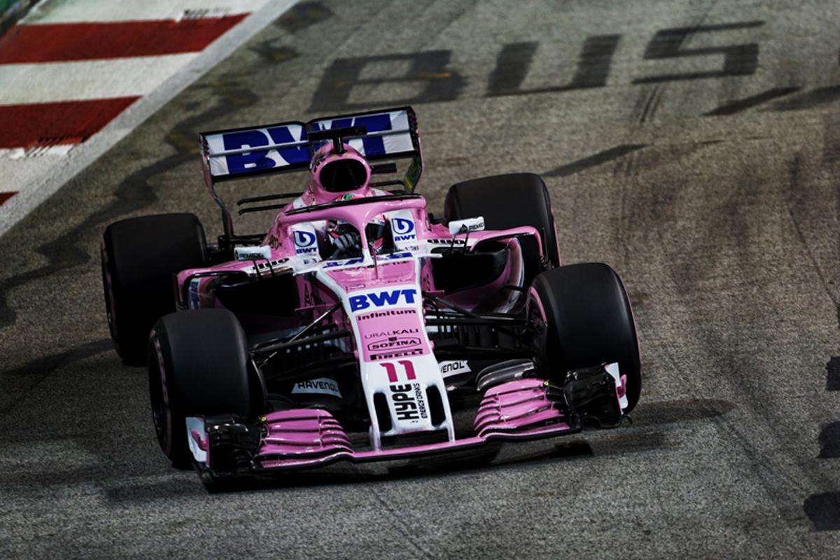 F1 レーシングポイント・フォースインディア セルジオ・ペレス シンガポールGP