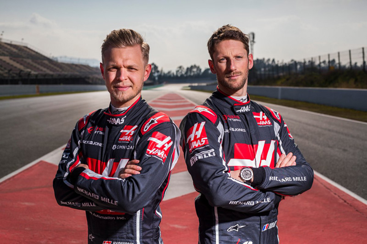 F1 ハースF1チーム ロマン・グロージャン ケビン・マグヌッセン