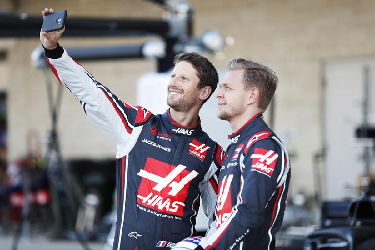 F1 ケビン・マグヌッセン ロマン・グロージャン ハースF1チーム