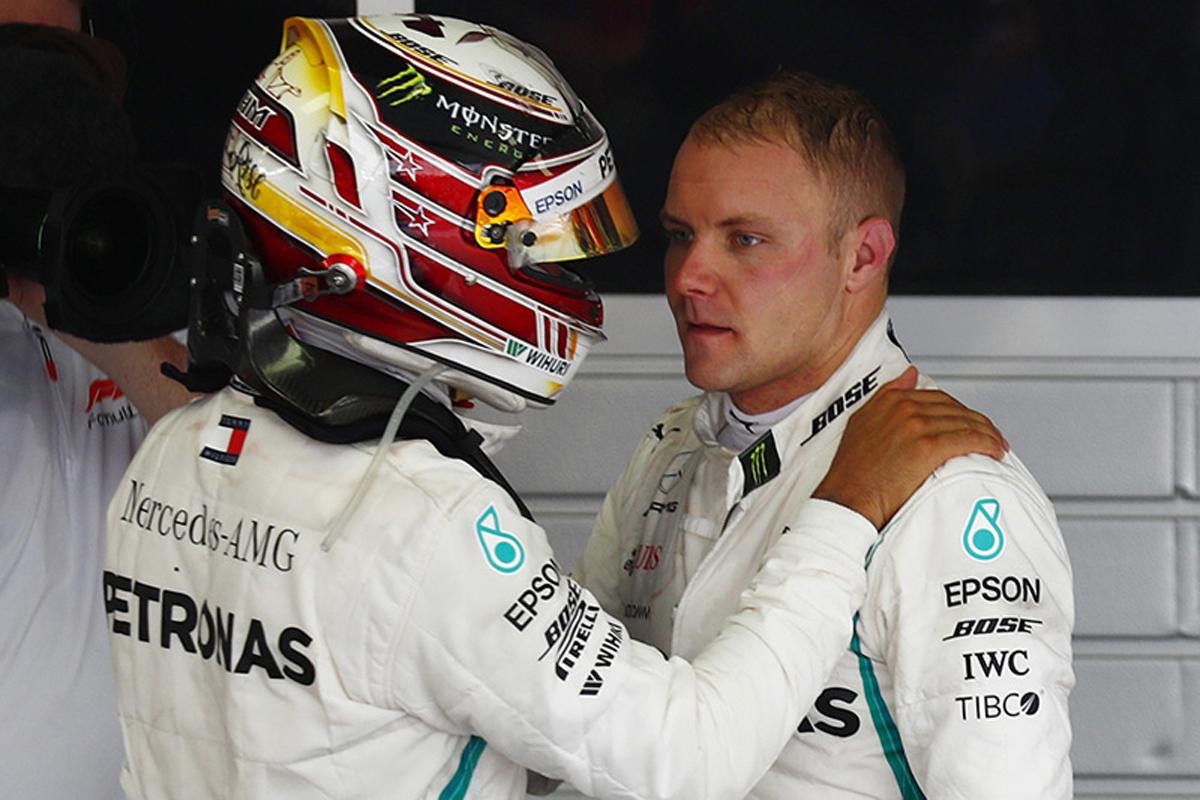 F1 バルテリ・ボッタス ルイス・ハミルトン