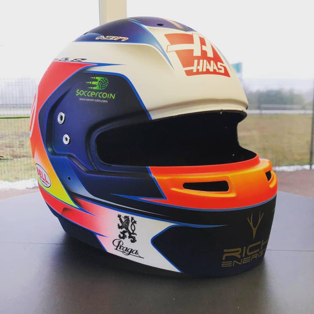 ロマン・グロージャン 2019年 F1ヘルメット