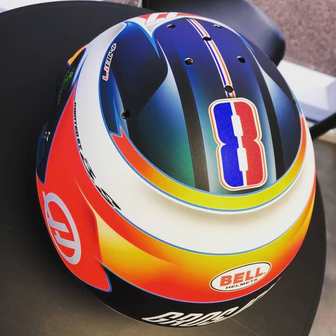 2019年 ロマン・グロージャン F1 ヘルメット