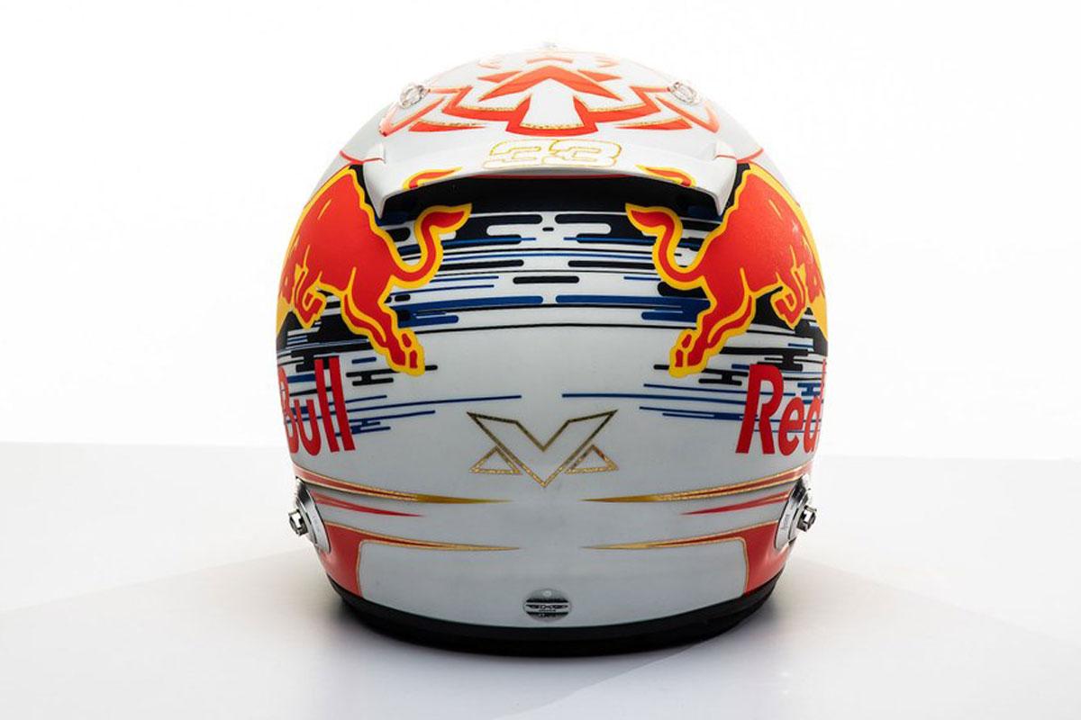 マックス・フェルスタッペン 2019年 F1ヘルメット(背面)