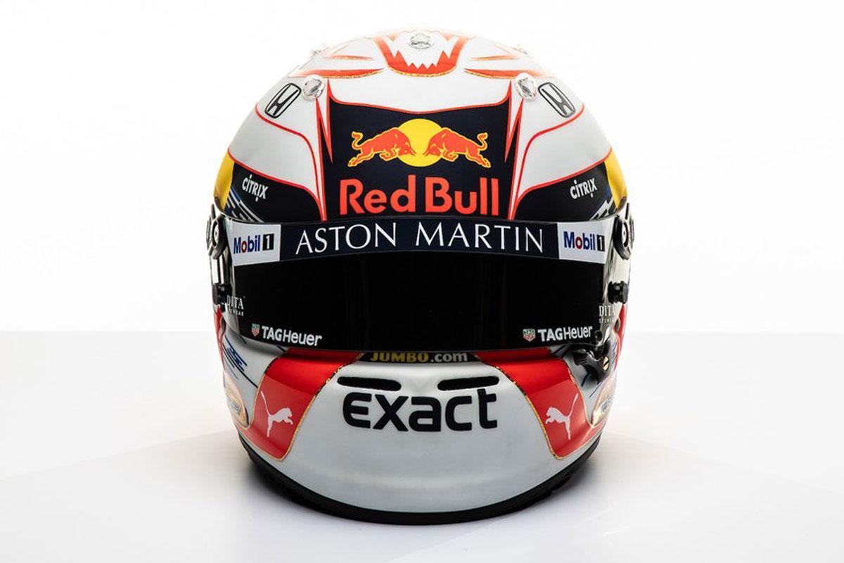 マックス・フェルスタッペン 2019年 F1ヘルメット(前面)