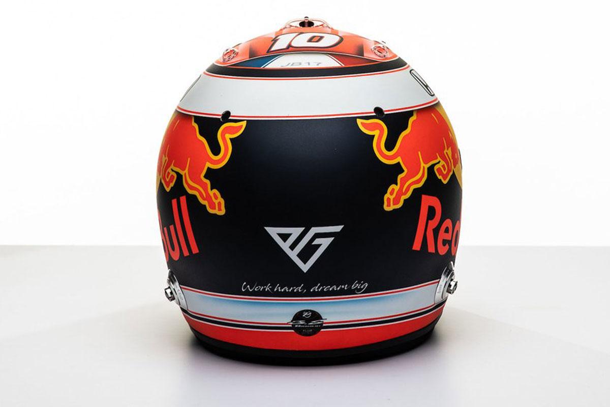 ピエール・ガスリー 2019年 F1ヘルメット(背面)