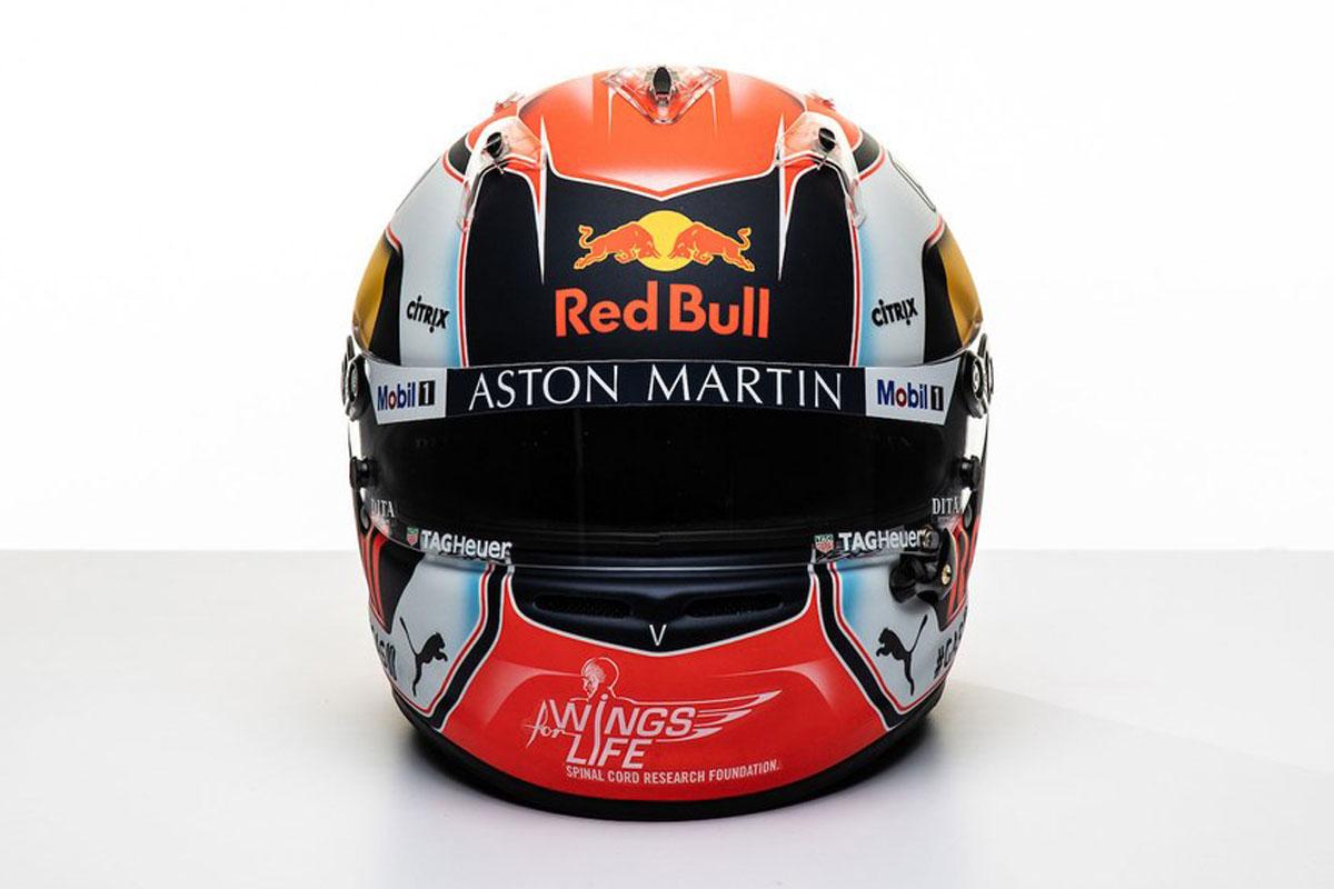 ピエール・ガスリー 2019年 F1ヘルメット(前面)