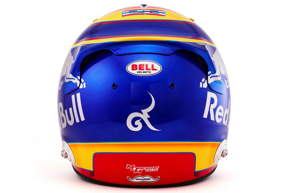 アレクサンダー・アルボン 2019年 F1ヘルメット (背面)