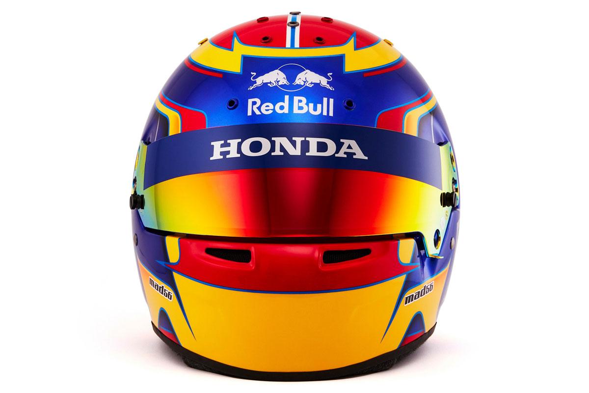 アレクサンダー・アルボン 2019年 F1ヘルメット (正面)