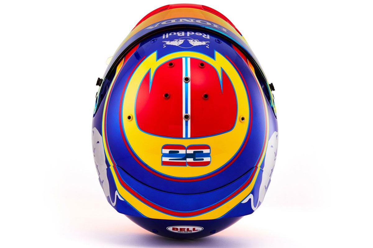 アレクサンダー・アルボン 2019年 F1ヘルメット (トップ)