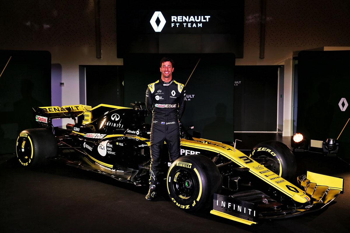 F1 ダニエル・リカルド ルノーF1