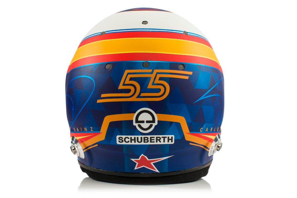 カルロス・サインツJr. 2019年 F1ヘルメット ②