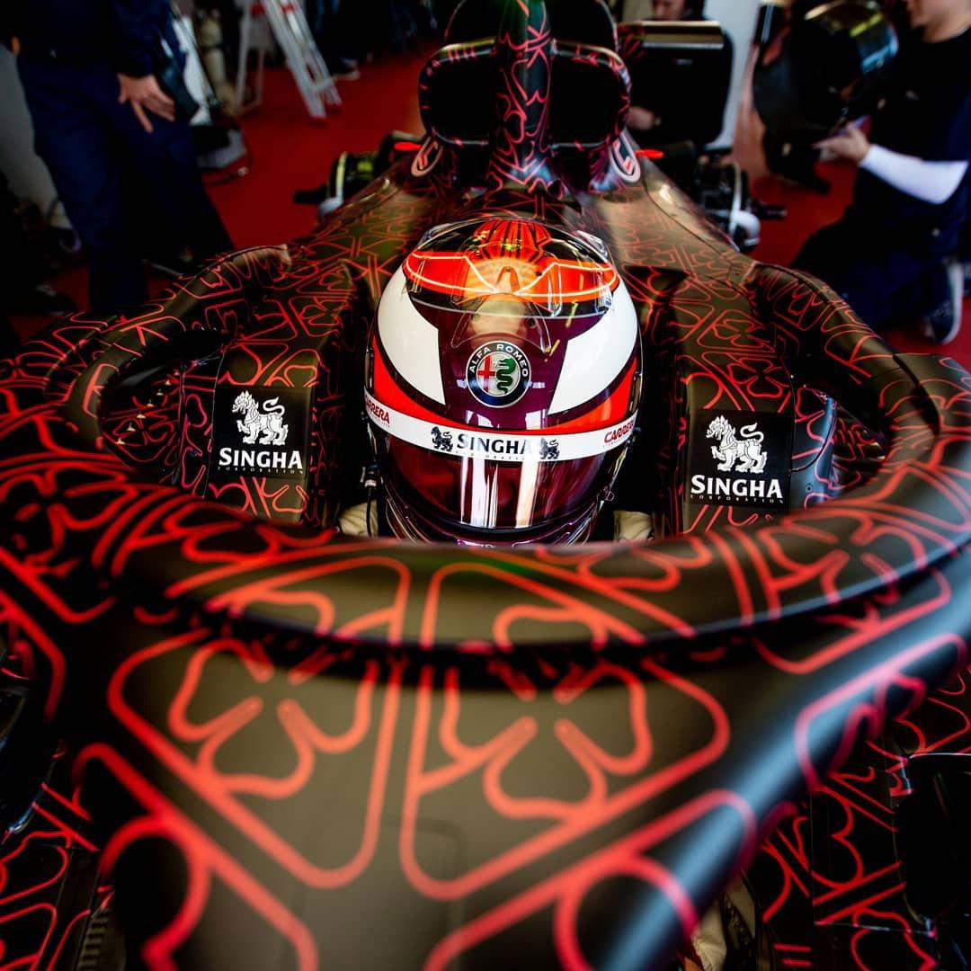 キミ・ライコネン アルファロメオ・レーシング 2019年F1 ヘルメット