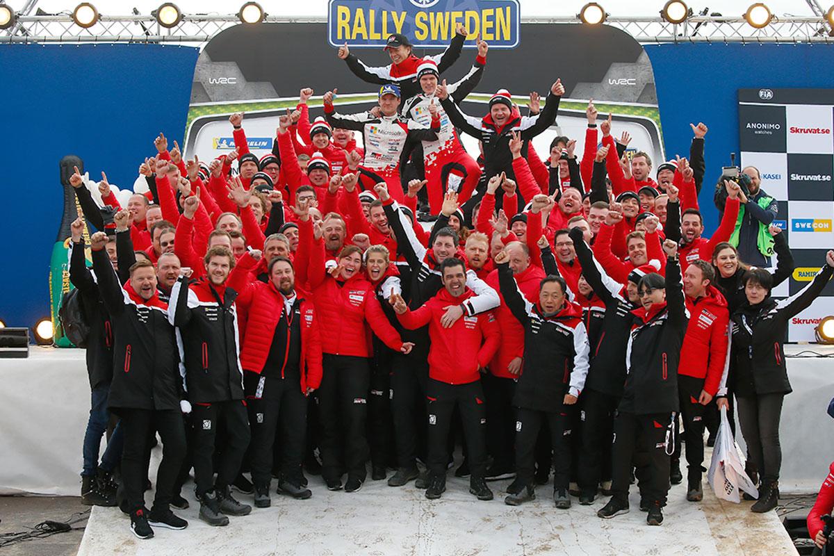 WRC ラリー・スウェーデン トヨタ