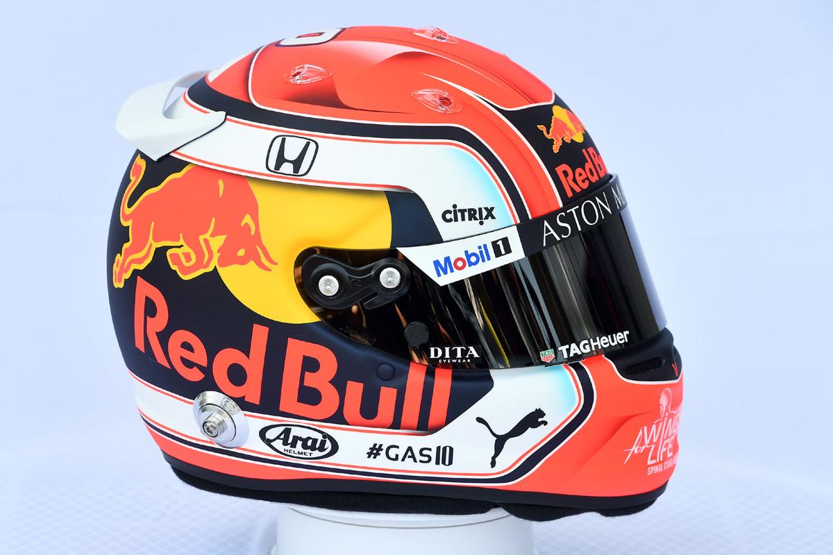 ピエール・ガスリー 2019年 F1ヘルメット