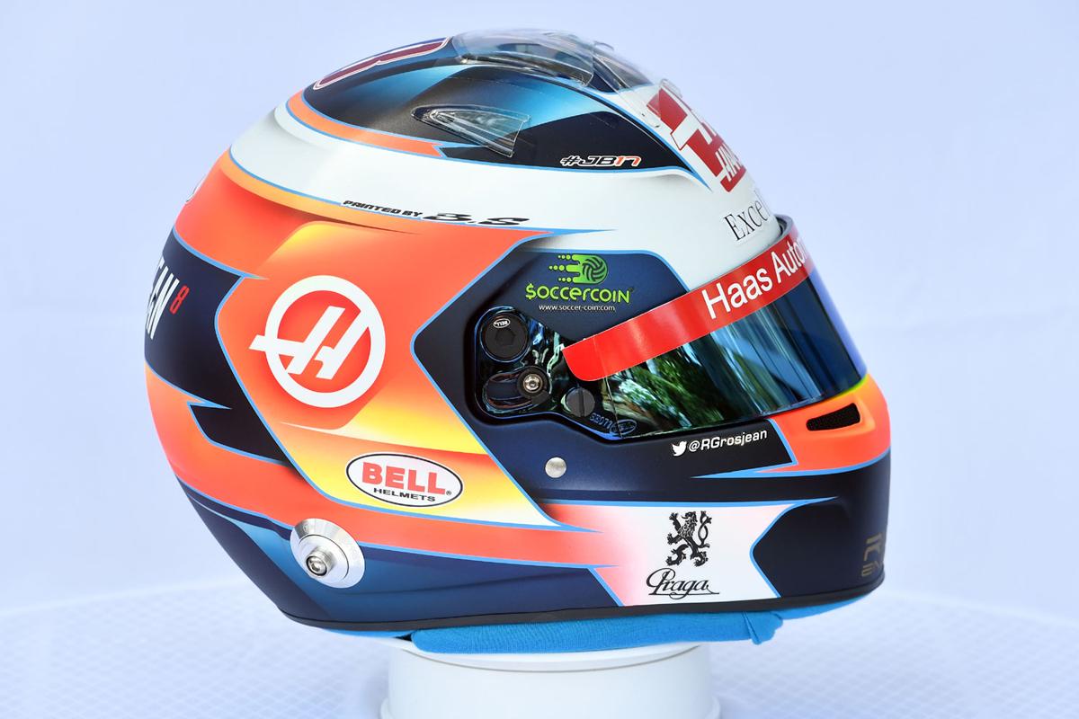 ロマン・グロージャン:2019年 F1ヘルメット