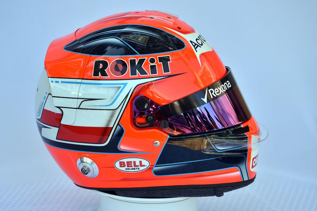 ロバート・クビサ 2019年 F1ヘルメット