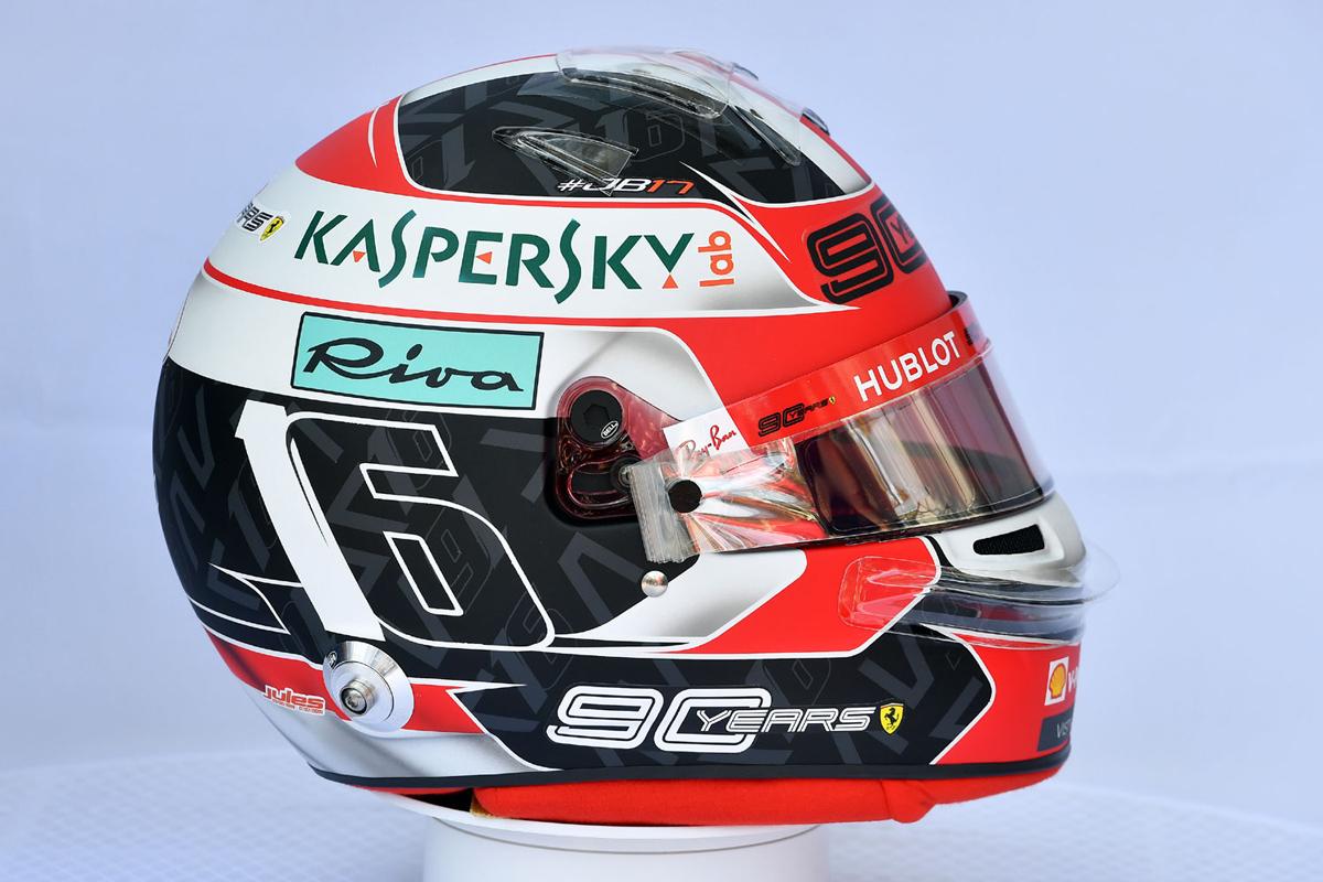 シャルル・ルクレール:2019年 F1ヘルメット