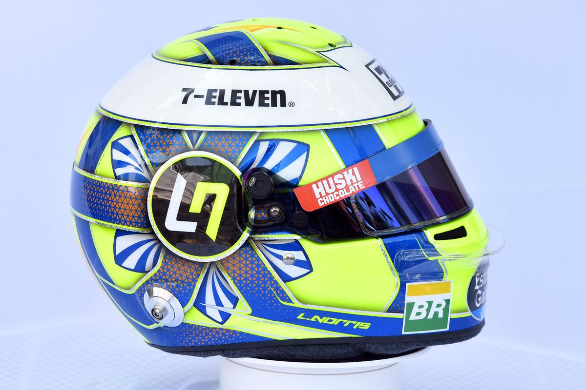 ランド・ノリス:2019年 F1ヘルメット