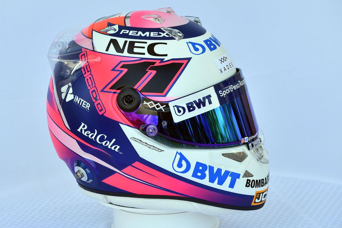 セルジオ・ペレス:2019年 F1ヘルメット