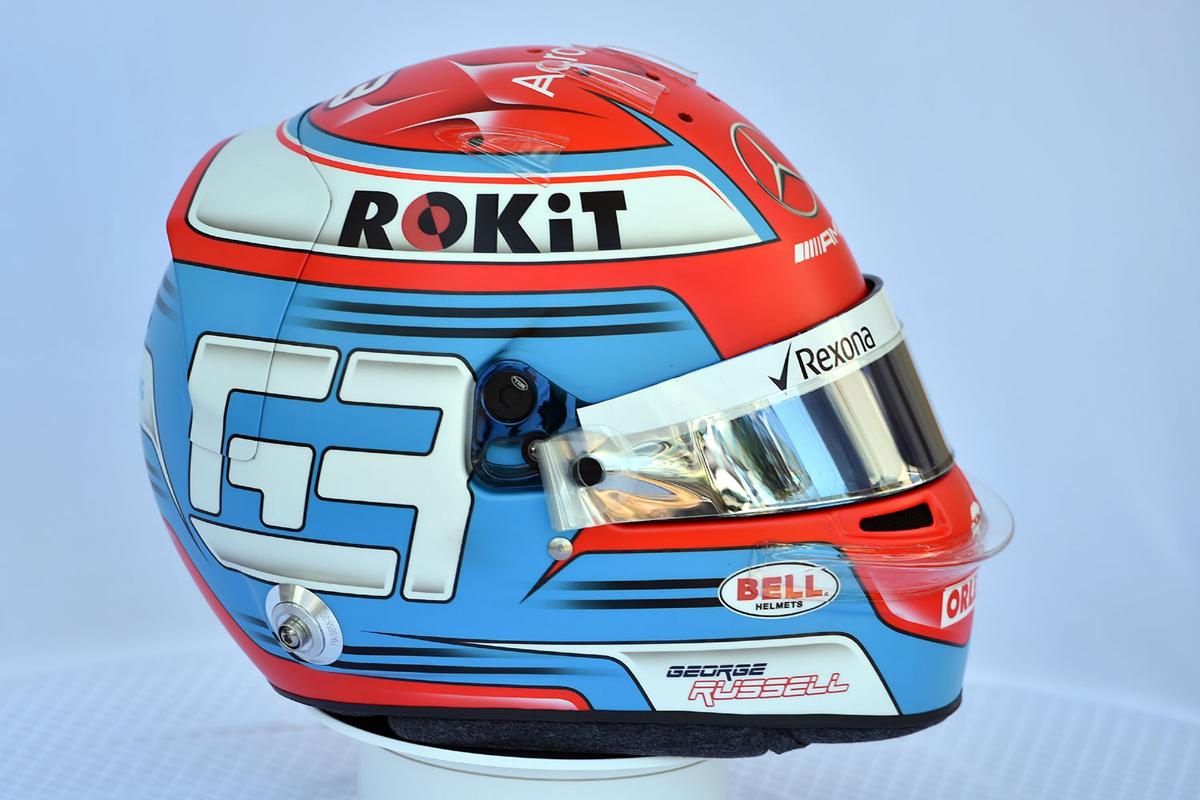 ジョージ・ラッセル 2019年 F1ヘルメット